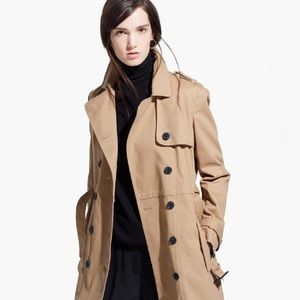 Mango Button Down Trench Coat